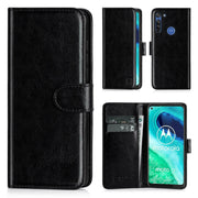 For Motorola G8 Power Flip Leather Wallet Case Cover Book Case