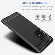 Shockproof Silicone Carbon Fibre Case Cover For Huawei P40 Lite