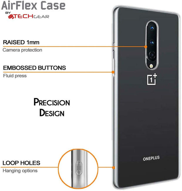 Flexible Soft Gel/TPU Cover with Soft Touch Keys Compatible with OnePlus 7