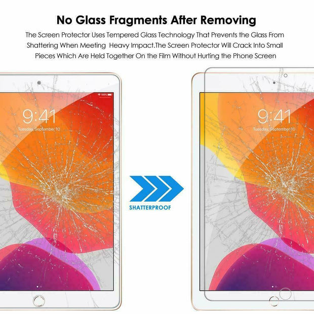 "Tempered Glass Screen Protector For Apple iPad 10.2"" (8th Gen)"