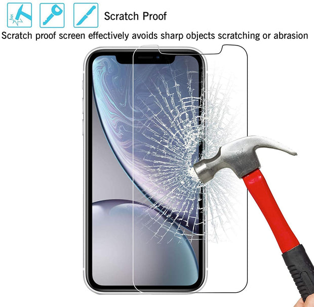 iPhone 11 Case Compatible Tempered Glass Screen Protector