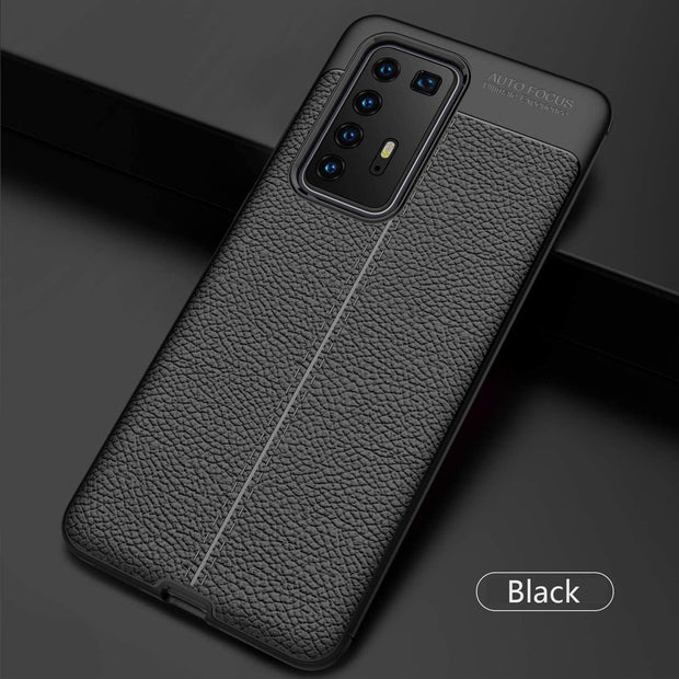 Leather Texture design Bumper Protective Cover for Huawei P40 Lite