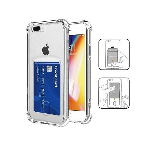 Clear Case For iPhone SE 2020(2nd Gen) TPU Silicone with Card Slot
