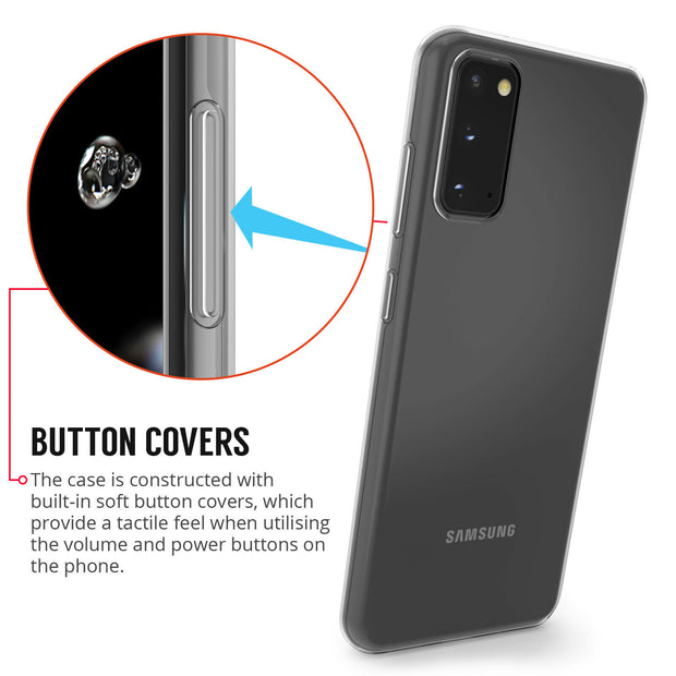 Samsung Galaxy S20  Ultra Plus  Case, Slim Clear Silicone Gel Phone Cover