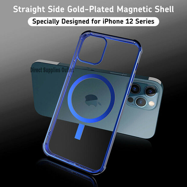 Magnetic Clear Phone Case-MagSafe Cover For Apple  iPhone 12 6.1""