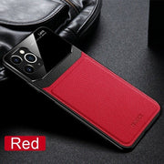 "For iPhone 12 6.1"" Hybrid Leather Protective Case Slim Cover"