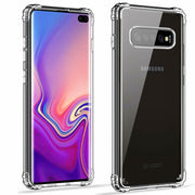 Clear Silicone Bumper Shockproof Case For Samsung Galaxy S10 Plus