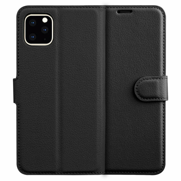 Leather Flip Wallet Case with Cash / Card Slots For Apple Iphone 11 Pro