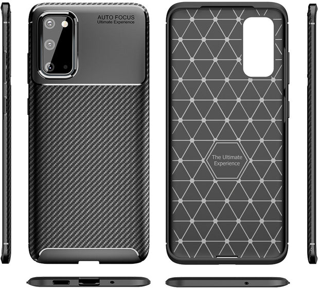 Shockproof Silicone Carbon Fiber Fibre Case Cover For Samsung  Note 20 Ultra