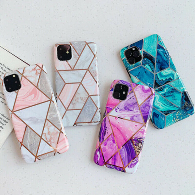 Marble Phone Cover Silicone Case For iPhone 12 Pro 6.1""