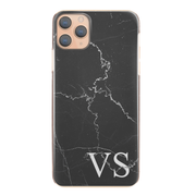 Personalised Phone Case For Apple iPhone X/XS Initial Marble Hard Cover