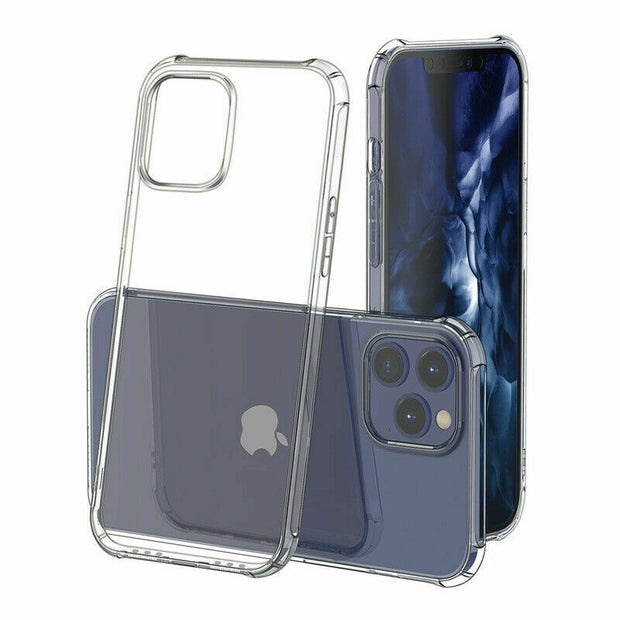 Clear Silicone Bumper Shockproof Case For Apple iPhone 12 Mini 5.4""