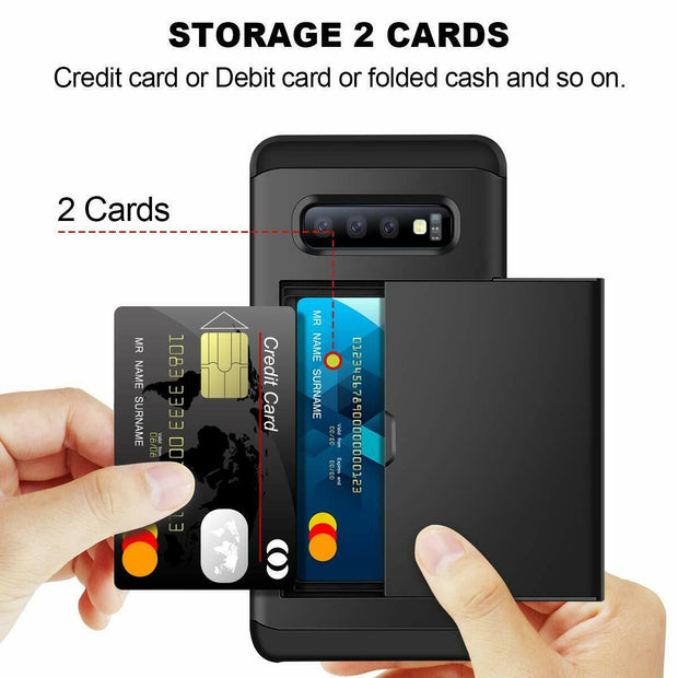 Samsung Galaxy S20 Card Holder Hard Cover Case