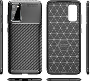 Shockproof Silicone Carbon Fiber Fibre Case Cover For Samsung Note 20