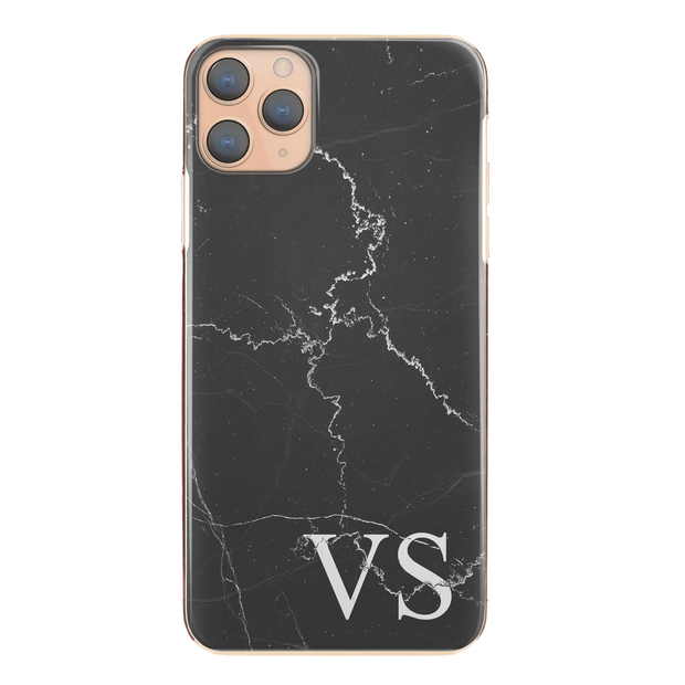 Personalised Phone Case For Apple iPhone  7 Plus Initial Marble Hard Cover