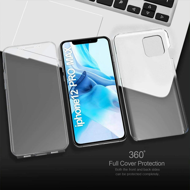 Front and Back Full protection Gel Skin Case Cover For Apple iPhone 12 Mini 5.4""