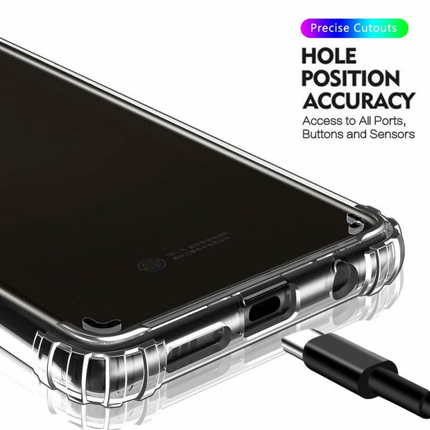 Clear Silicone Bumper Shockproof Case For Samsung Note 10 Lite