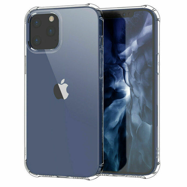 Clear Silicone Bumper Shockproof Case For Apple iPhone 12 PRO MAX 6.7""