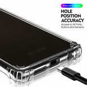 Clear Silicone Bumper Shockproof Case For Samsung Galaxy S20 Plus