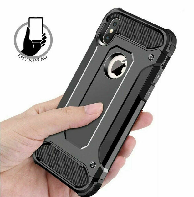 Apple iphone X / XS Hybrid Armor Shockproof Protective Case Cover Black
