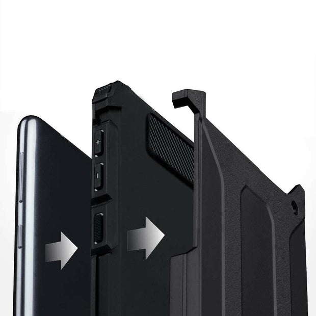 Samsung Galaxy S10e Tough Hard Heavy duty Armour Case Black