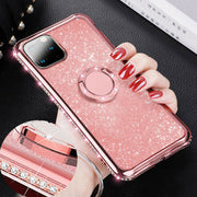 "For iPhone 12 6.1"" Bling Case Slim TPU Ring Holder Stand Cover"