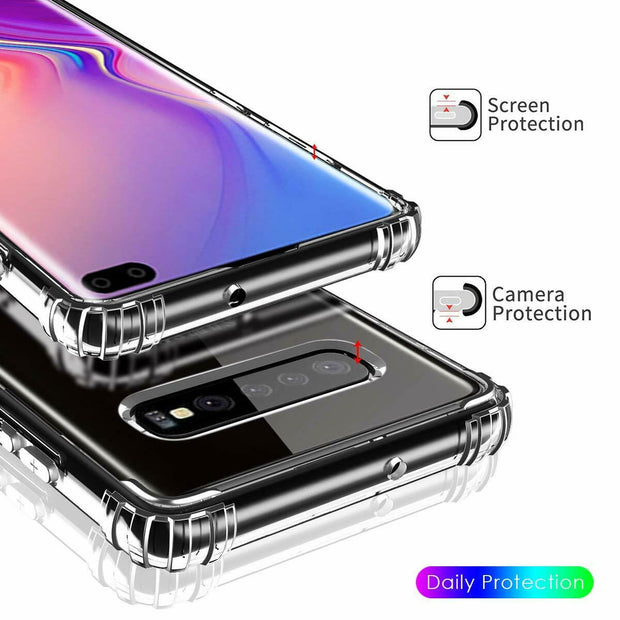 Clear Silicone Bumper Shockproof Case For Samsung S8 Plus