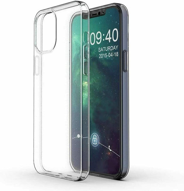 "Apple iPhone 12 6.1""  Gel Case Clear Ultra Slim Silicone"