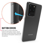 Samsung Galaxy S20 Case, Slim Clear Silicone Gel Phone Cover