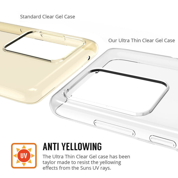 Samsung Galaxy S20 Plus  Case, Slim Clear Silicone Gel Phone Cover