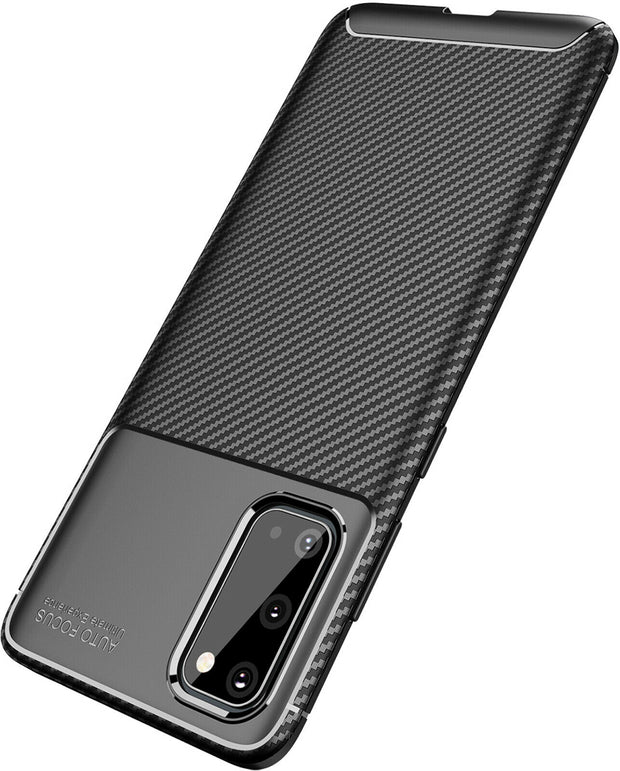 Shockproof Silicone Carbon Fiber Fibre Case Cover For Samsung S10