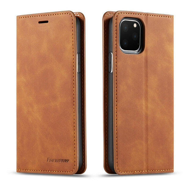 Luxury Leather Wallet Flip Case Cover For iPhone 12 Pro 6.1""