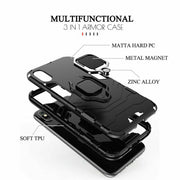 Shockproof Rugged 360 Ring Stand Armor Cover Apple iPhone 12 Mini 5.4""
