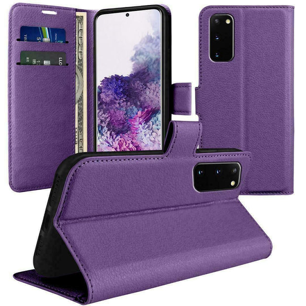 Case for Samsung Galaxy S20 Plus Cover Flip Wallet Leather Magnetic Luxury