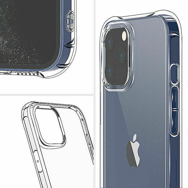 Clear Silicone Bumper Shockproof Case For Apple iPhone 12 PRO 6.1""