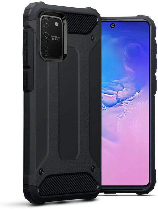 Samsung Galaxy S10 Plus Tough Hard Heavy duty Armour Case Black