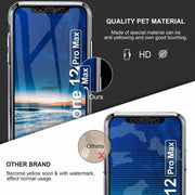 Front and Back Full protection Gel Skin Case Cover For Apple iPhone 12 6.1""