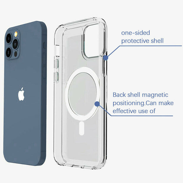 Magnetic Clear Phone Case-MagSafe Shockproof Cover For  iPhone 12 Mini