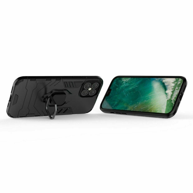 Shockproof Rugged 360 Ring Stand Armor Cover iPhone 12 6.1""