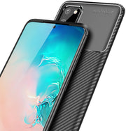 Shockproof Silicone Carbon Fiber Fibre Case Cover For Samsung S10e