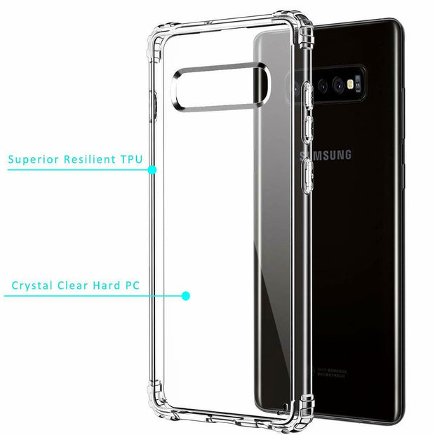 Clear Silicone Bumper Shockproof Case For Samsung S8