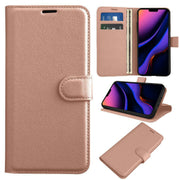 Leather Flip Wallet Case with Cash / Card Slots For Apple iphone XS Max