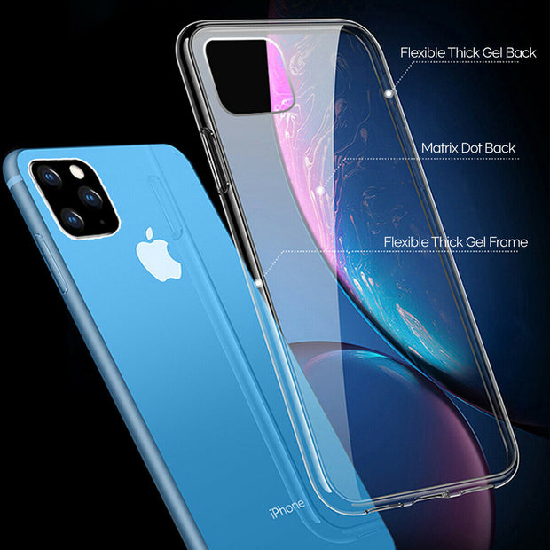 Apple iPhone 11 (6.1) Gel Case Clear Ultra Slim Silicone
