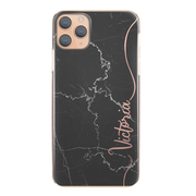 Personalised Phone Case For Apple iPhone XR Initial Marble Hard Cover