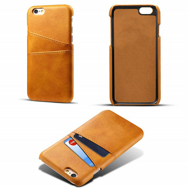 Luxury Leather Back Case Card Holder Phone Cover for iphone XR