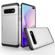 Samsung Galaxy S10 Plus Card Holder Hard Cover Case
