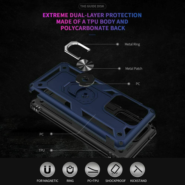Samsung Galaxy S20 Case Shockproof Heavy Duty Ring Rugged Armor Case Cover
