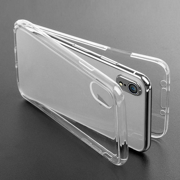 360° iPhone XS Max Front and Back Full TPU Silicone Touch Case Cover