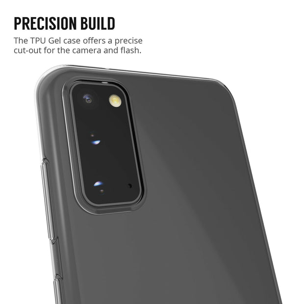 Samsung Galaxy S10 Plus Case, Slim Clear Silicone Gel Phone Cover
