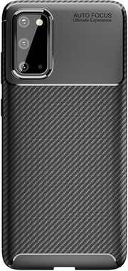 Shockproof Silicone Carbon Fiber Fibre Case Cover For Samsung S20 Plus
